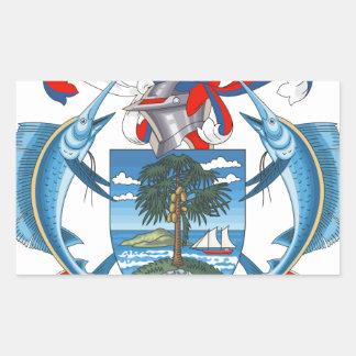 SeychellesCoat dos braços Adesivo Em Forma Retangular