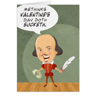 Shakespeare não no cartão do amor