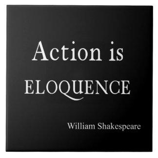 Shakespeare personalizou a ação das citações é azulejo quadrado grande