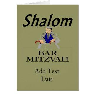 SHALOM: O bar Mitzvah, edita o texto Cartao