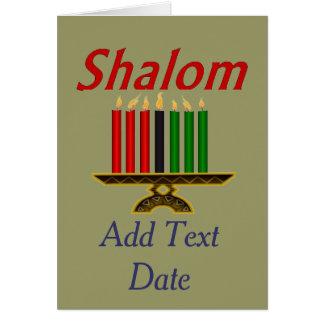SHALOM O bar Mitzvah edita o texto Cartoes
