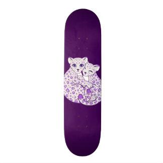 Shape De Skate 18,1cm Arte de afago de Cubs do leopardo de neve
