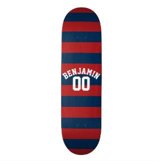 Shape De Skate 18,1cm Número conhecido das listras do rugby dos azuis