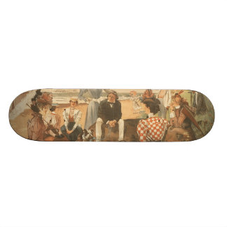 Shape De Skate 18,4cm Amigos da praia do T