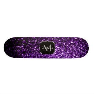Shape De Skate 18,4cm O brilho roxo escuro bonito sparkles monograma
