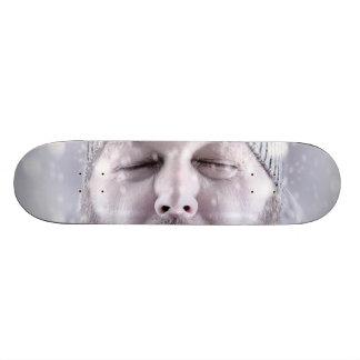 Shape De Skate 18,4cm O homem frio de congelação na neve ataca o branco