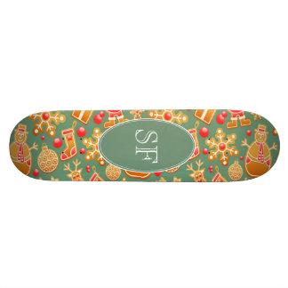 Shape De Skate 18,4cm Papai noel e monograma festivos do pão-de-espécie