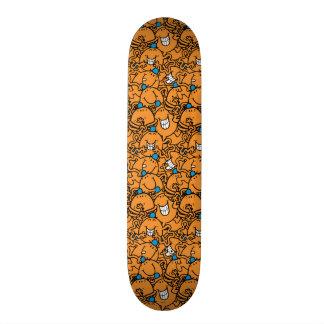 Shape De Skate 18,4cm Teste padrão alaranjado das cócegas do Sr. Agradar