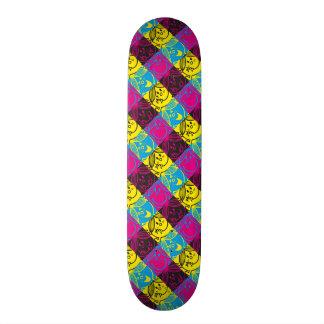 Shape De Skate 18,4cm Teste padrão de néon pequeno da senhorita Luz do