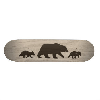 Shape De Skate 18,4cm Urso de urso com silhuetas de Cubs