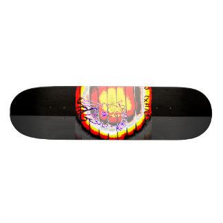 Shape De Skate 18,7cm Grunge de LooneySkull-: Umber