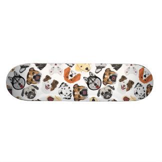 Shape De Skate 19,7cm Cães do teste padrão da ilustração
