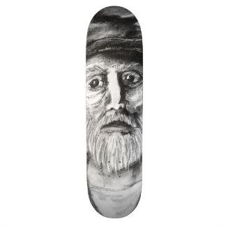Shape De Skate 19,7cm Desenho de carvão vegetal do ancião