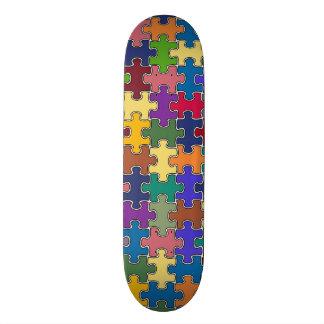 Shape De Skate 19,7cm jogo colorido do quebra-cabeça