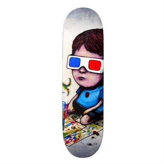 Shape De Skate 19,7cm Rei Trippy Costume Pro Parque Embarque do miúdo 3D