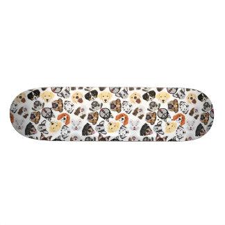Shape De Skate 20,6cm Cães do teste padrão da ilustração