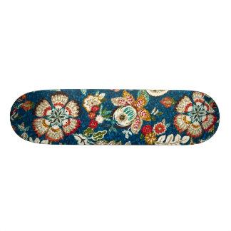 Shape De Skate 20,6cm Efeito do brilho floral em azul escuro