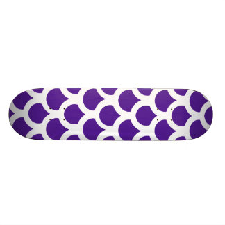 Shape De Skate 20,6cm Escala de peixes 2 do roxo real