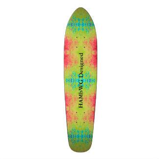 Shape De Skate 20,6cm HAMbyWG projetou - o azul cor-de-rosa verde