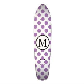 Shape De Skate 20,6cm Monograma simples com bolinhas da lavanda