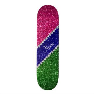 Shape De Skate 20cm Brilho verde conhecido personalizado do rosa