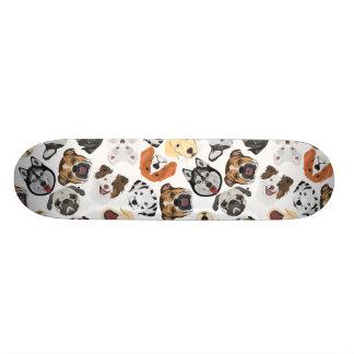 Shape De Skate 20cm Cães do teste padrão da ilustração