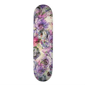 Shape De Skate 20cm Ilustração floral da lavanda cor-de-rosa boémia do