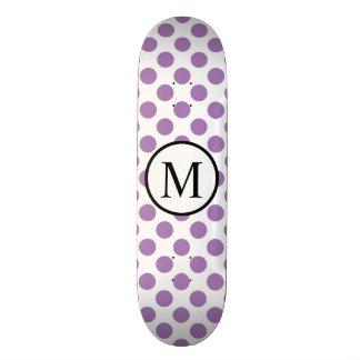 Shape De Skate 20cm Monograma simples com bolinhas da lavanda