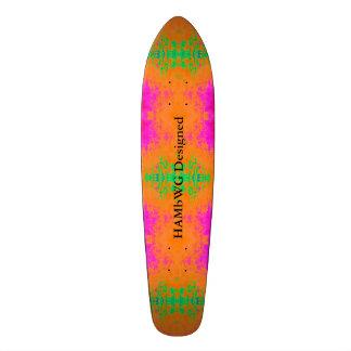 Shape De Skate 21,6cm HAMbyWG projetou - o verde cor-de-rosa alaranjado