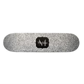 Shape De Skate 21,6cm O brilho de prata bonito sparkles monograma