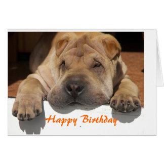 Shar Pei Birthday Cartão Comemorativo