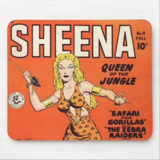 Sheena: Banda desenhada da mulher da selva Mouse Pad