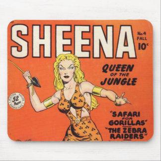 Sheena: Banda desenhada da mulher da selva Mouse Pads