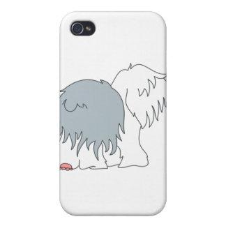 Sheepdog Bobtail iPhone 4 Capa