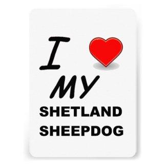 sheepdog de Shetland love png Convites Personalizado
