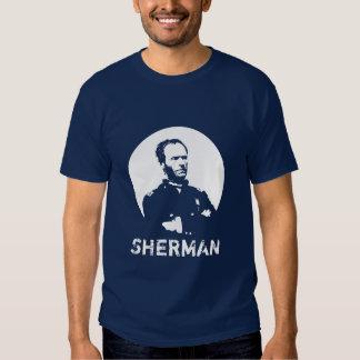 Sherman -- Azul e branco T-shirts