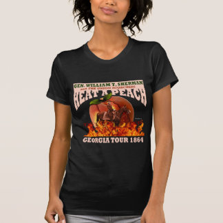 """Sherman """"calor camisa da excursão de um pêssego"""" ( t-shirt"""