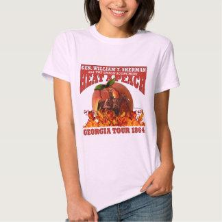 """Sherman """"calor camisa da excursão de um pêssego"""" tshirts"""