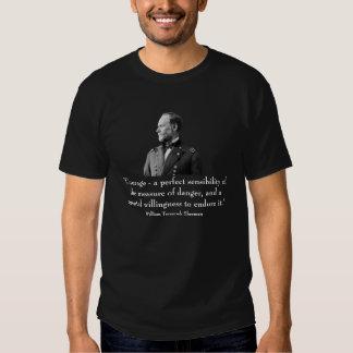 Sherman e citações t-shirt
