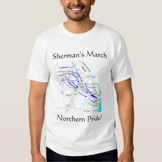 Sherman o 1º de março t-shirts