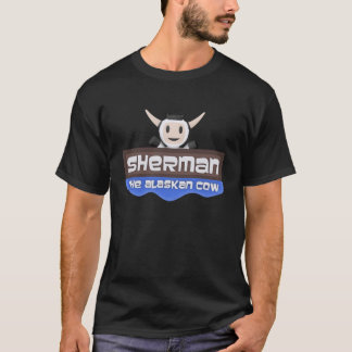 Sherman o t-shirt do Alasca do logotipo da vaca