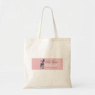 Shh mães que lêem a sacola bolsa para compras