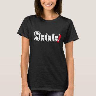 shhh design na moda do t-shirt das citações da