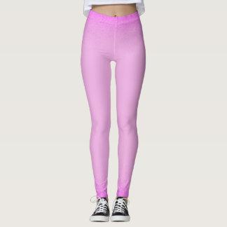 Shimmer cor-de-rosa simples leggings