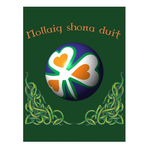 Shona Nollaig duit Merry Christmas Cartão Postal