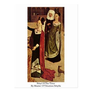 Sibyl do Tibre pelo mestre de Tiburtine Sibylle Cartão Postal