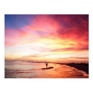Siesta Florida chave, noite de verão, por do sol Cartões Postais