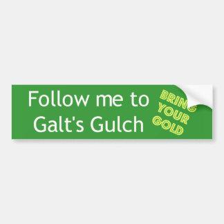 Siga-me ao Gulch de Galt Adesivo Para Carro