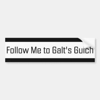 Siga-me ao Gulch de Galt Adesivo