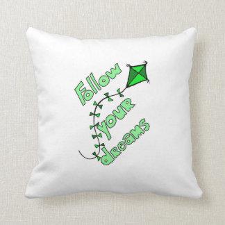 Siga seu verde do travesseiro dos sonhos almofada